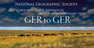 National Geographic Society - Ranks GER to GER in Top Global Travel Experiences