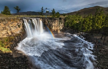 GER to GER GEOtourism Mongolia - Okhon Waterfall