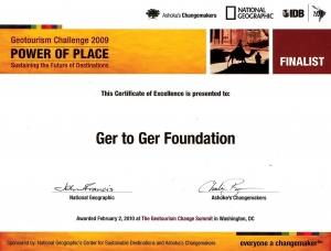 GER to GER GEOtourism Mongolia - National Geographic Society Certificate of Excellence