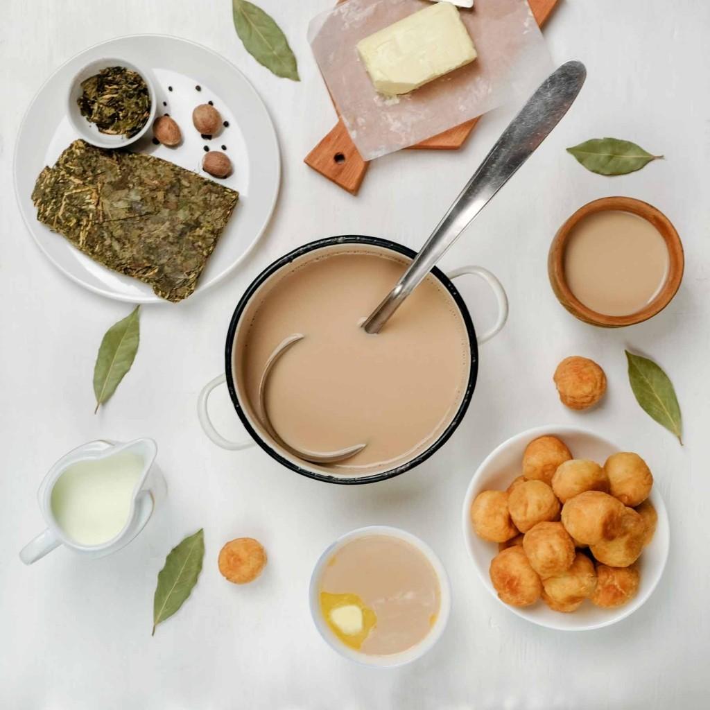 GER to GER GEOtourism Mongolia - Mongolian Foods - Milk Tea