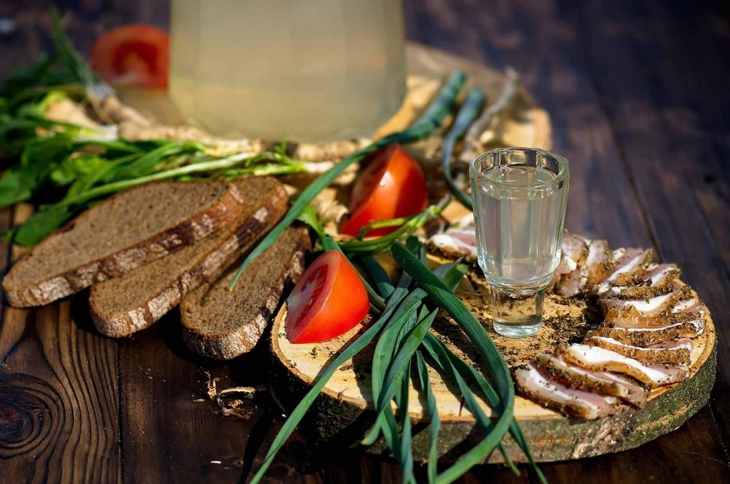GER to GER GEOtourism Mongolia - Mongolian Foods - Mongolian Vodka